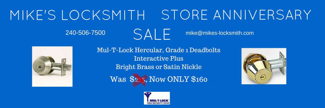 Mike's Locksmith Store Anniversary Sale +++ Expired +++