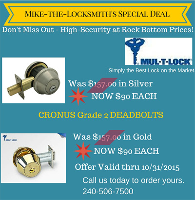 October Special : Mikes-The-Locksmith's Special Deal +++ Expired +++