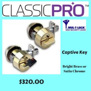 Mul-T-Lock ClassicPRO Captive Key