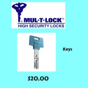 Mul-T-Lock Keys