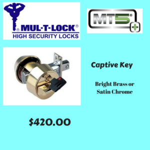 MT5+ Captive Key (Bright Brass Or Satin Chrome)