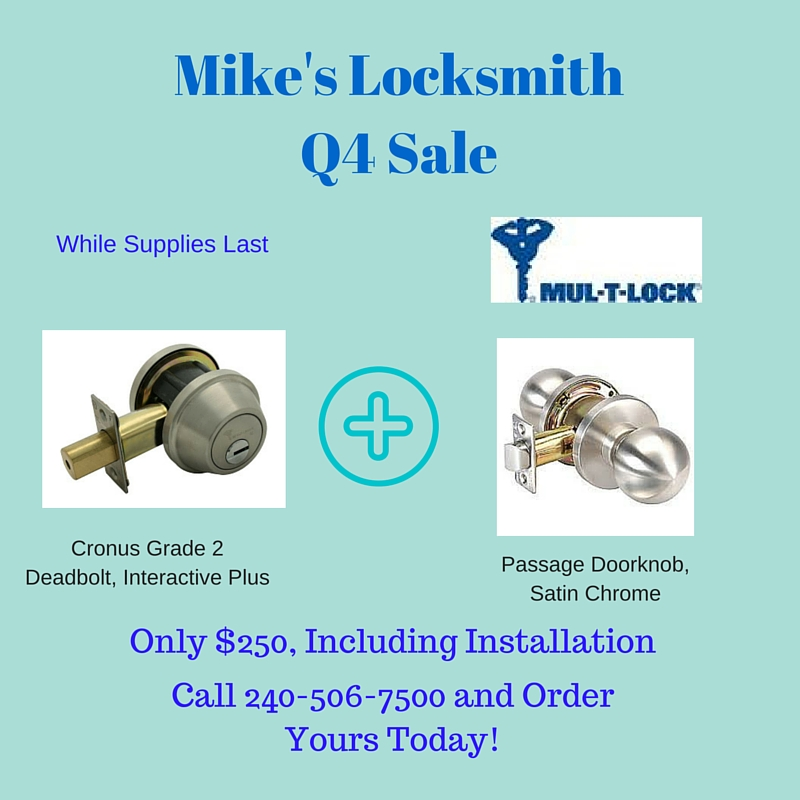 Mikes Locksmith Q4 Sale +++ Expired +++