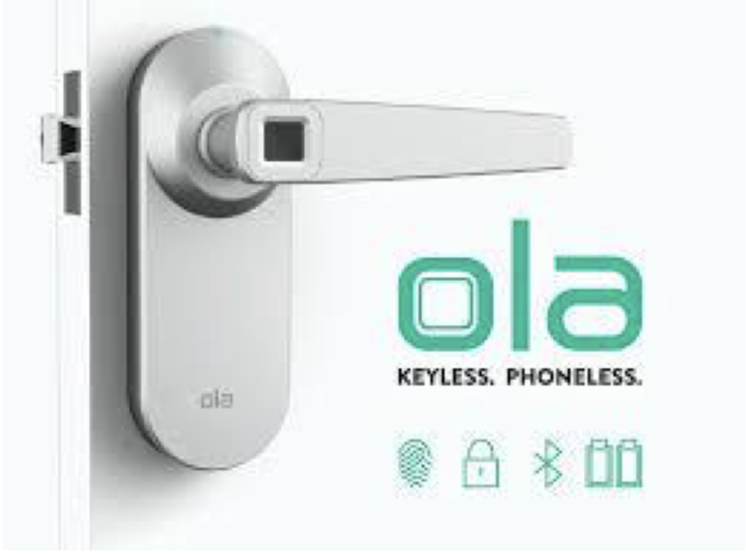 Forget keys – Ola Smart Lock Uses a Fingerprint Sensor